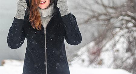blouson capuche femme neige