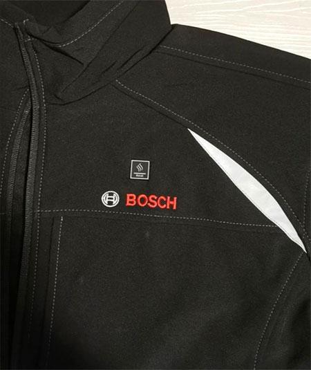 bouton d'allumage de la veste chauffante Bosh
